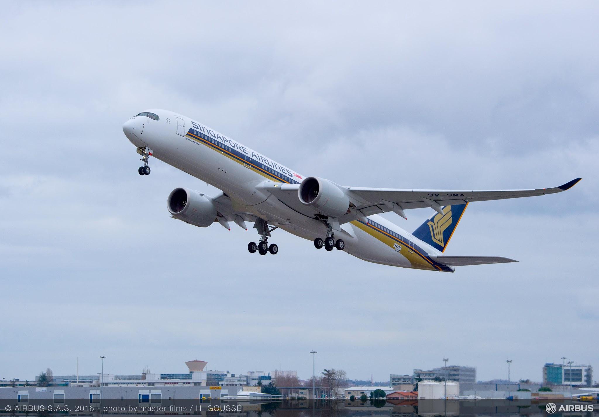 É MAIS QUE VOAR | Primeiro A350 XWB da Singapore Airlines voou pela primeira vez