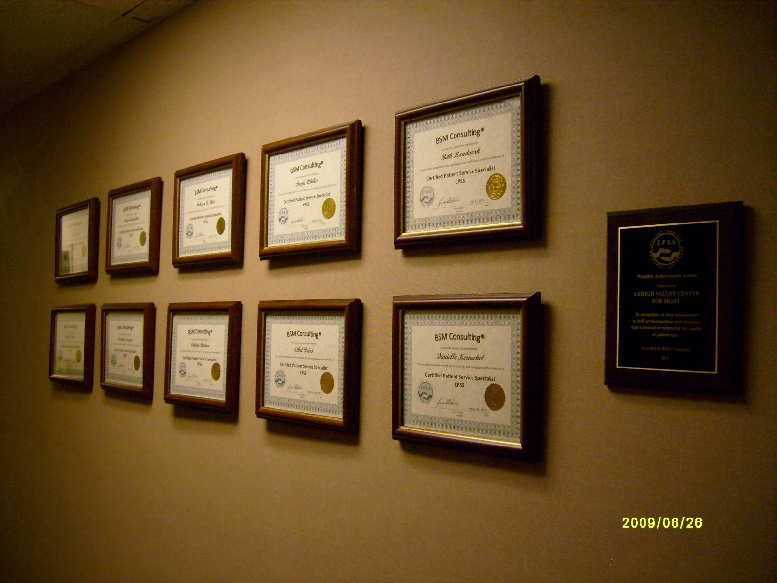 Center For Sight Certified Patient Service Specialists At Lvc4s