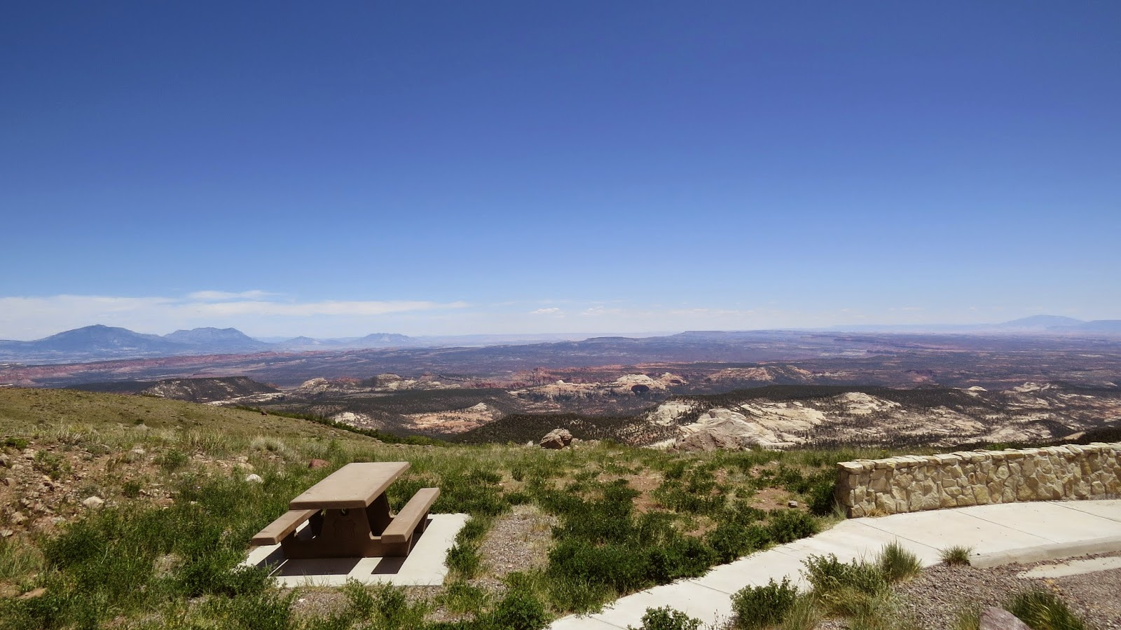 A view over Grand Staircase Escalante National Monument from a rest area near Boulder, Utah