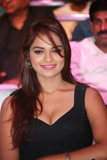 Actress Ashwi Latest  Pictures in Black Short Dress at Chakkiligintha Trailer Launch  16.JPG