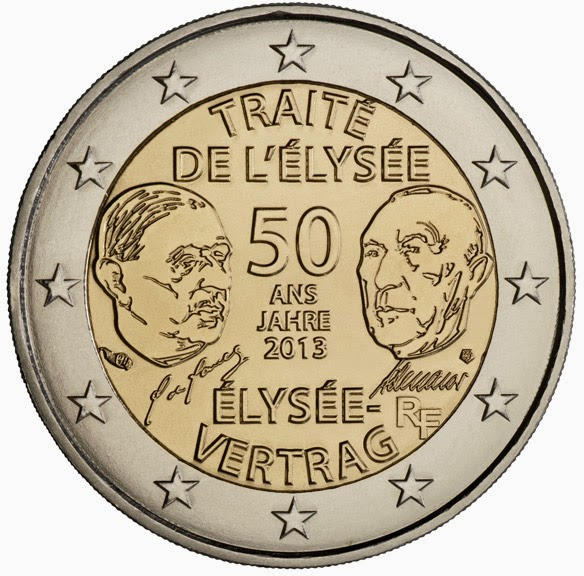 2 euro France 2013, Elysee Treaty