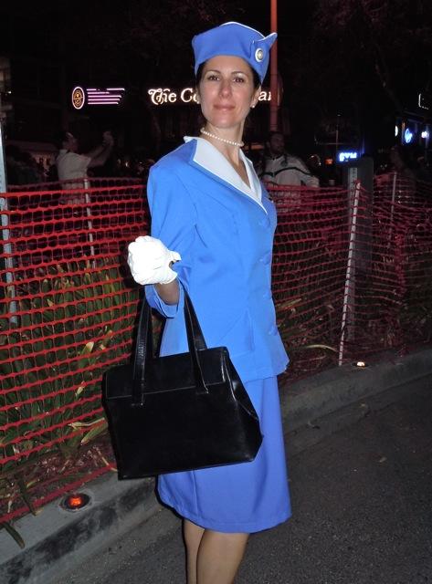 Pan Am costume WEHO Halloween Carnaval