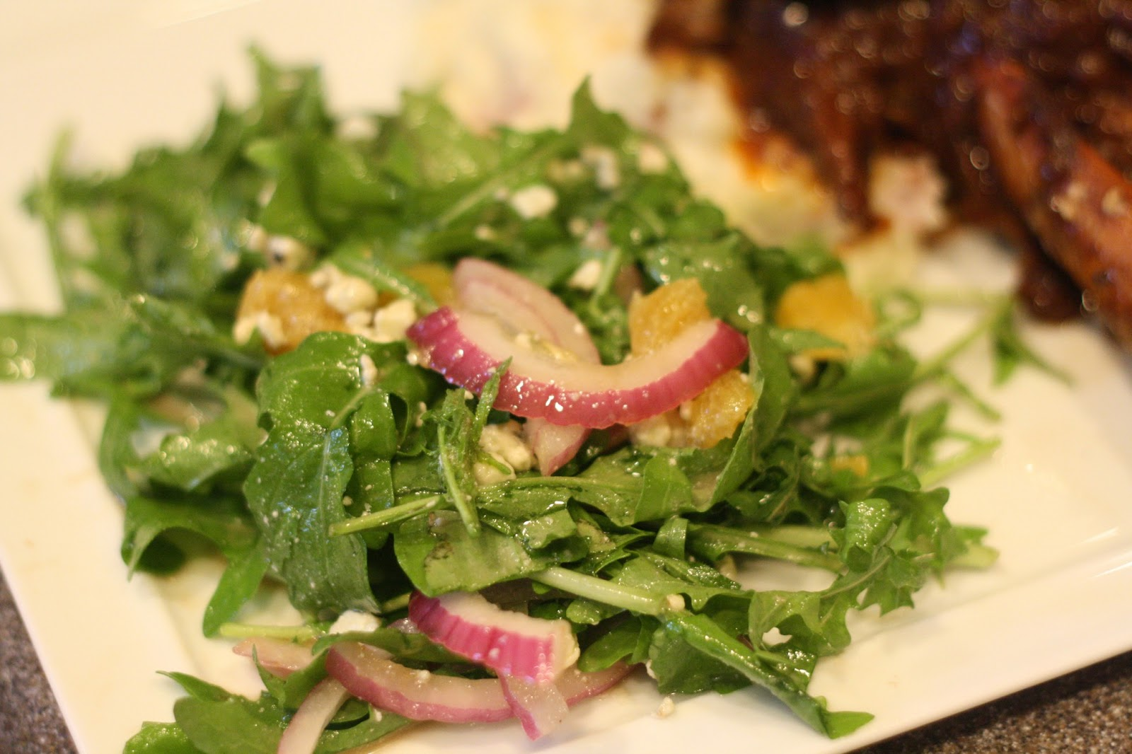 Orange, Red Onion, Gorgonzola And Arugula Salad Recipes — Dishmaps