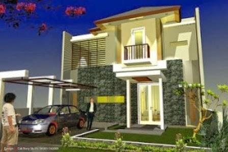 Desain Rumah Minimalis 2 Lantai Lebar 10 Meter