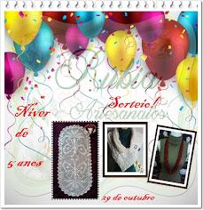 Meus Amores venham participar do sorteio de 5 anos do blog