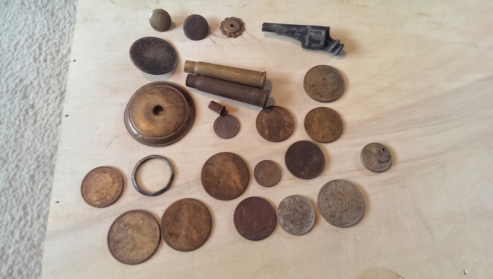 some finds made while metal detecting