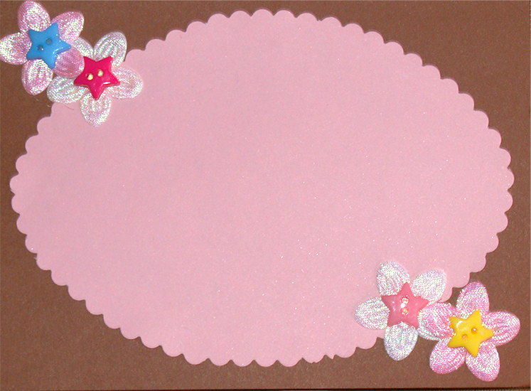 Tarjeta con flores y circulos-DIY Circles and flower card