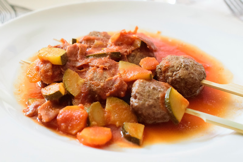Albóndigas con tomate fit