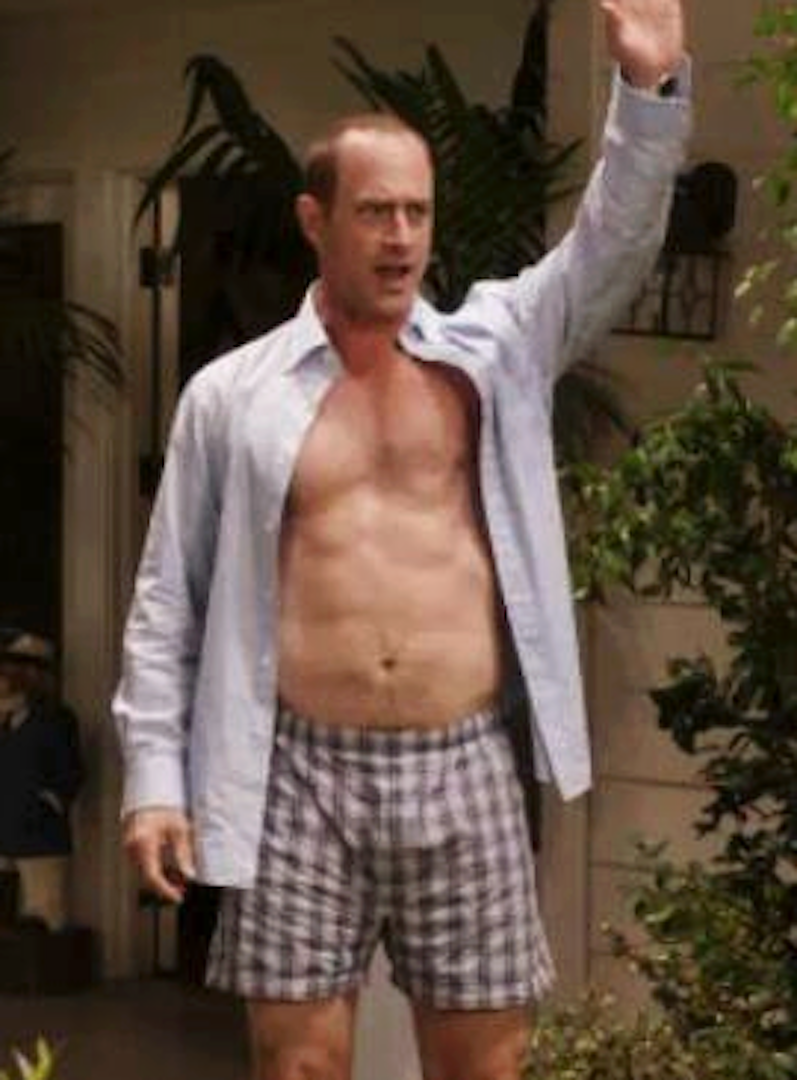 Chris Meloni Brian Bloom Awesome my new plaid pants: good morning, world