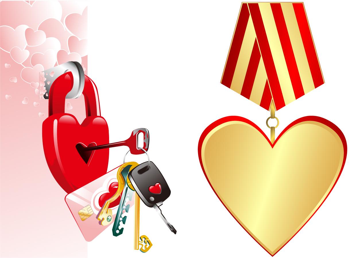 バレンタインデーのハートをアレンジした素材 valentine day ideas pattern vector イラスト素材