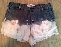 Bleach Dipped Shorts on UpcycleFever
