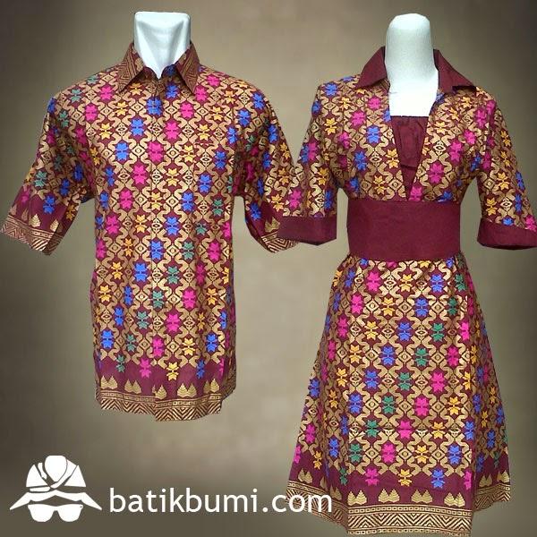 Sarimbit batik bali prada marun