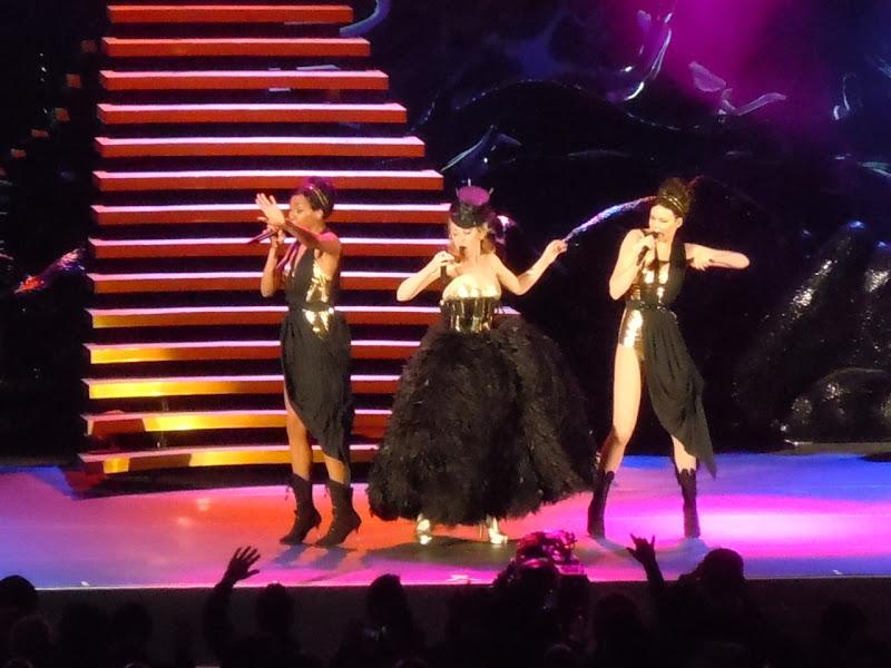Kylie Minogue black dress Aphrodite Tour