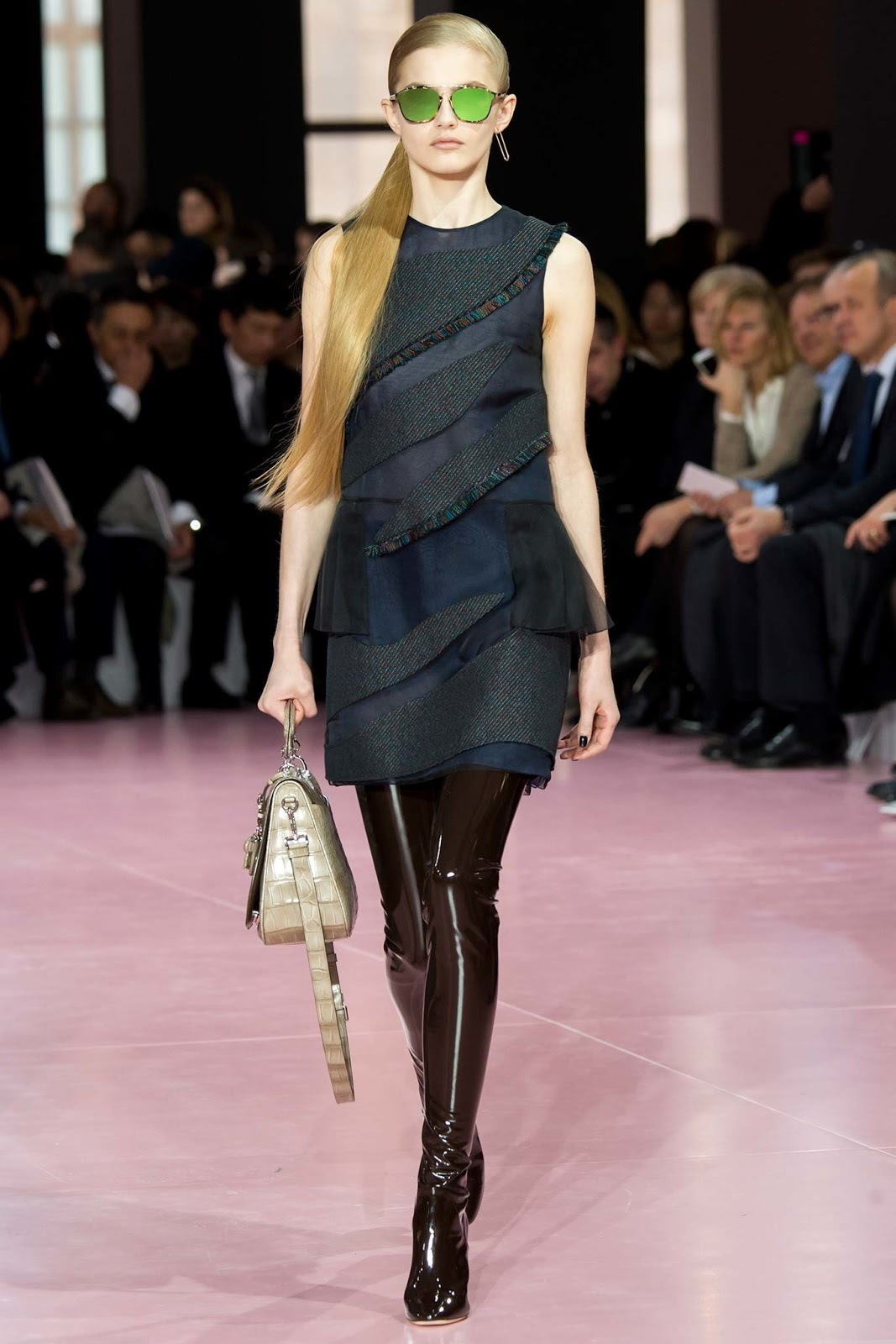Over the knee boots on Fall/Winter 2015 runway at Christian Dior via www.fashionedbylove.co.uk