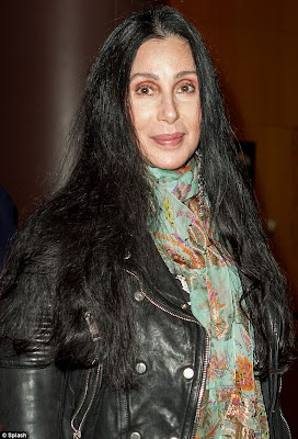 Cher after removing her sunglasses