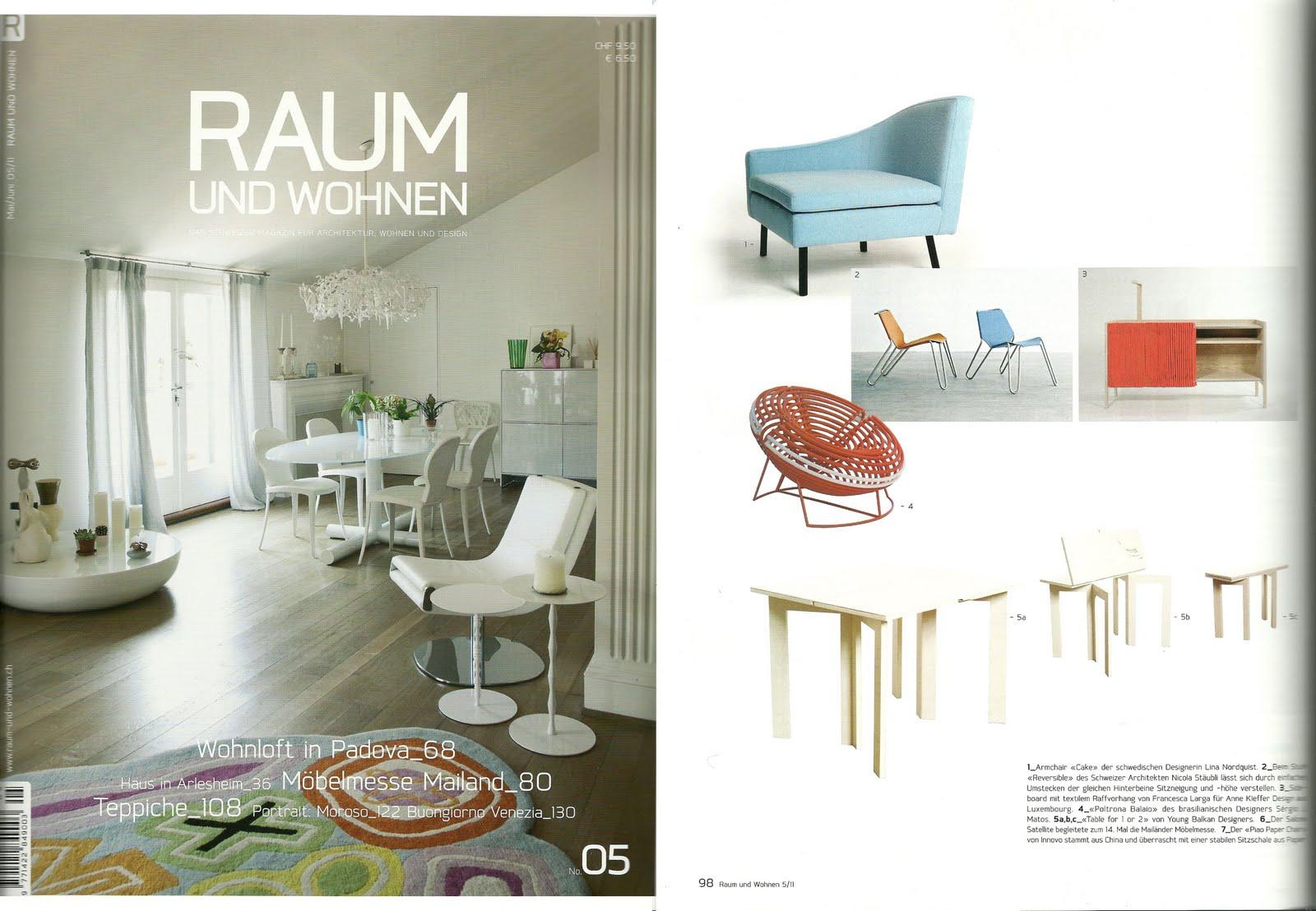 s rgio j matos designer poltrona balaio na revista su ssa raum und wohnen. Black Bedroom Furniture Sets. Home Design Ideas