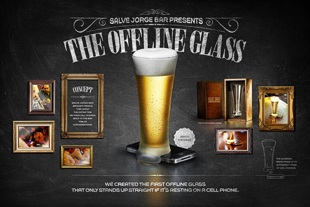 Un vaso para combatir el abuso de los celulares en el bar for Vasos para bar