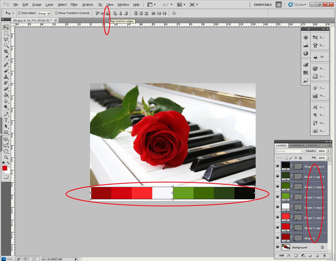 Как сделать растяжку в фотошопе
