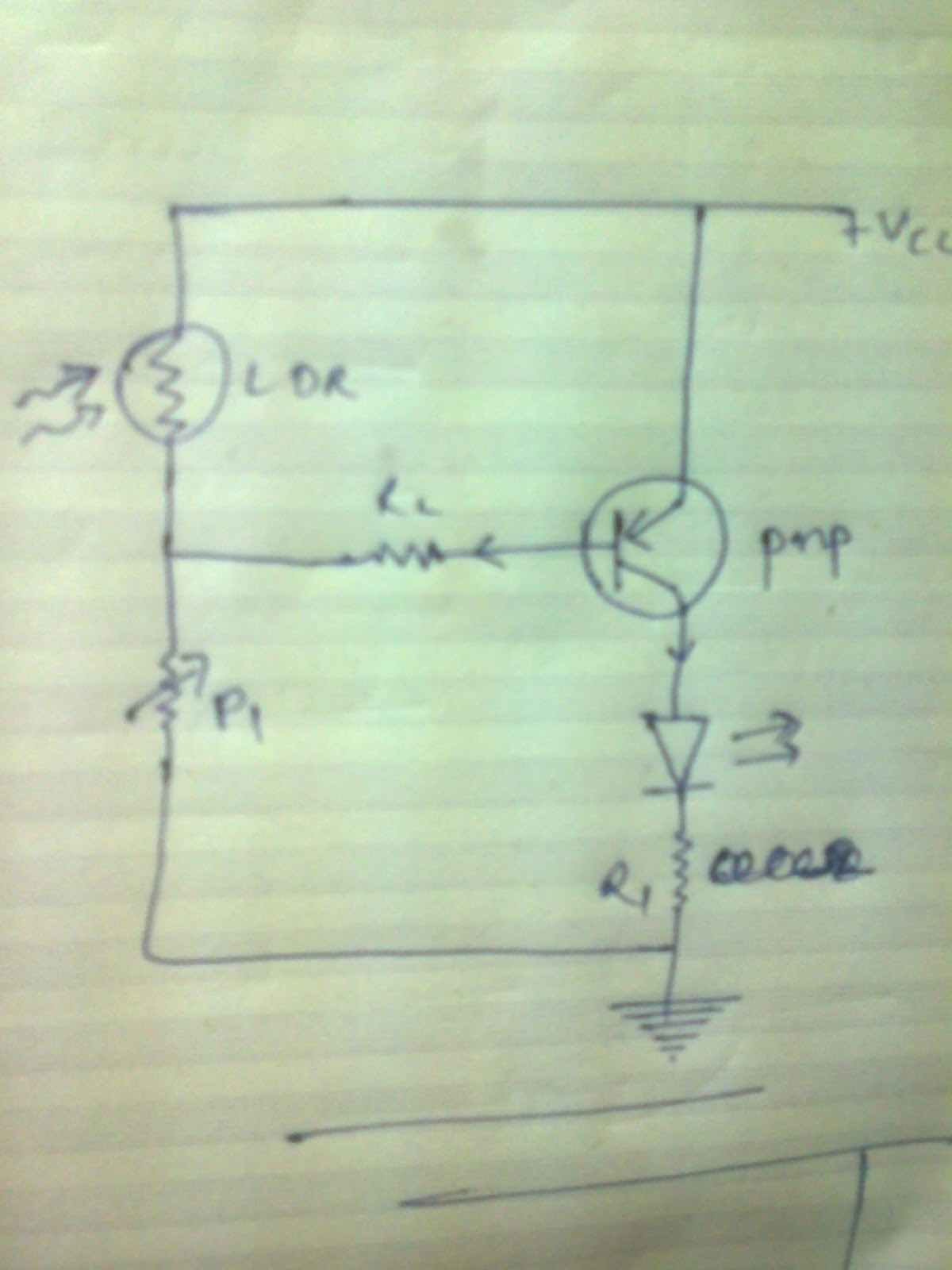 Automatic Night Lamp Using Pnp Transistorand Ldr Electronic Projects Circuit Diagram