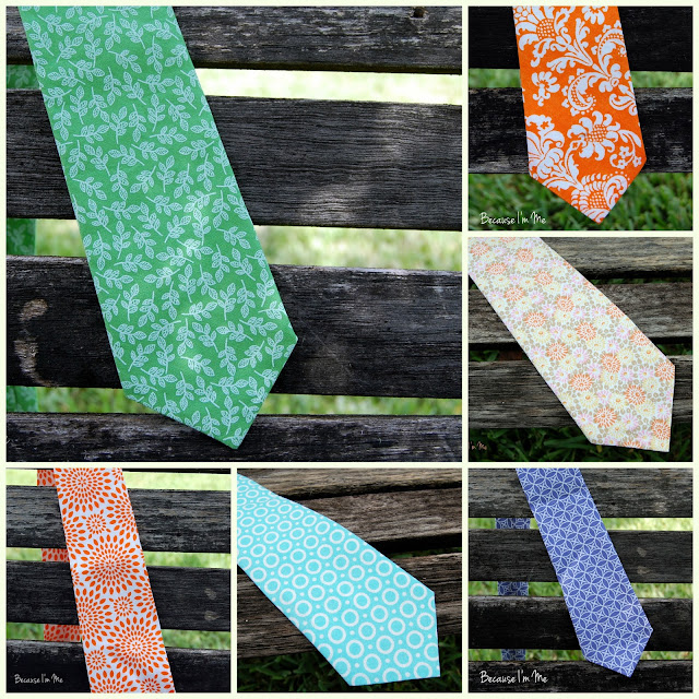 Summer neckties for boys and men at Because I'm Me
