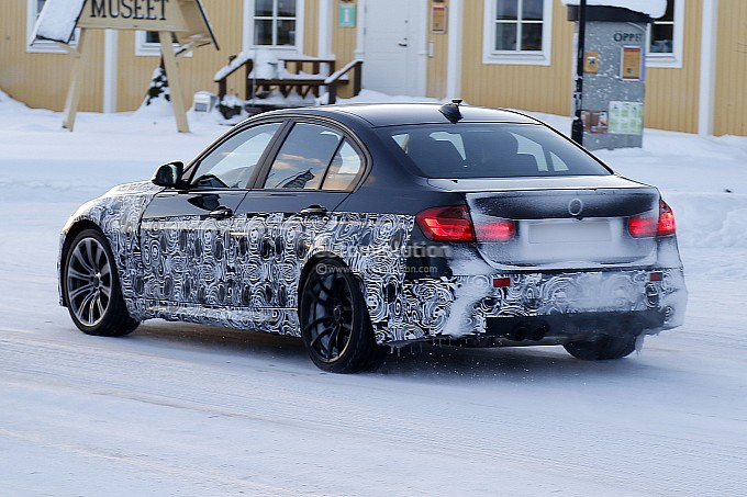 World News Cars Spyshots: New 2014 BMW M3 Snow Fun
