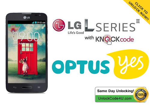Factory Unlock Code for LG L70 from Optus Yes Australia