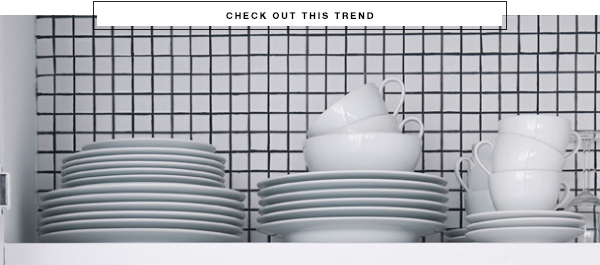 Grid pattern trend via At Home in Love.