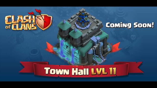 Clash of Clans Update Perlihatkan Town Hall Level 11