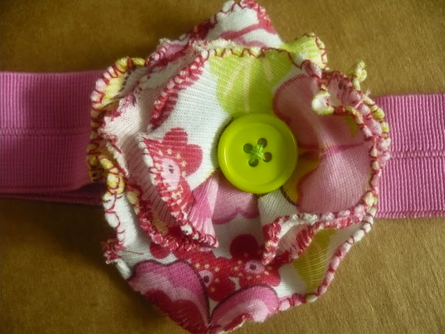 rolled fabric flower pattern