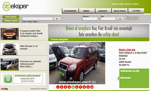 Yeni; Koç Fiat Kredi avantajı ile garantili ikinciel araçlarlar Otoeksper'de