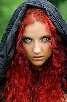 Girl with Red Hair Green Eyes