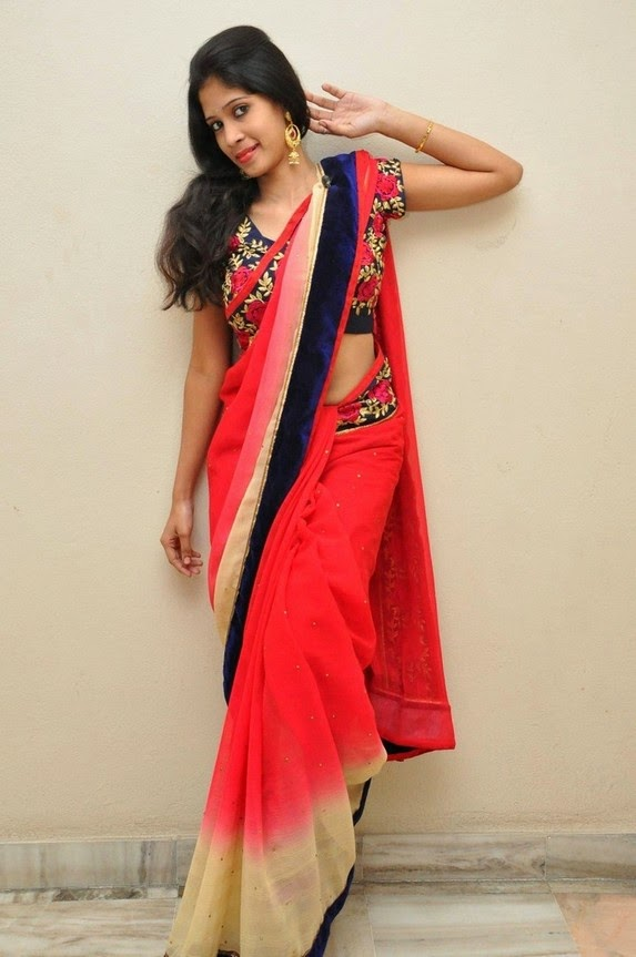 actress om sizzling photos in saree-HQ-Photo-14