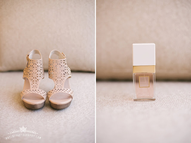 Bridal details; shoes and Chanel perfume, light and airy, mostly white