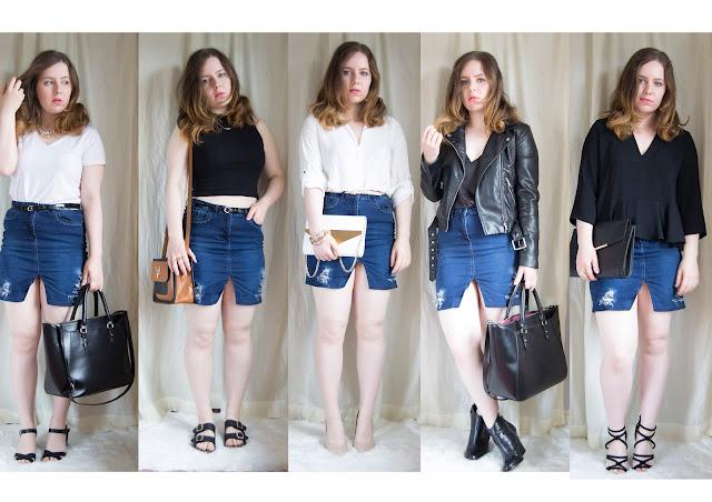 stylist, denim skirt, fashion blog, distressed denim