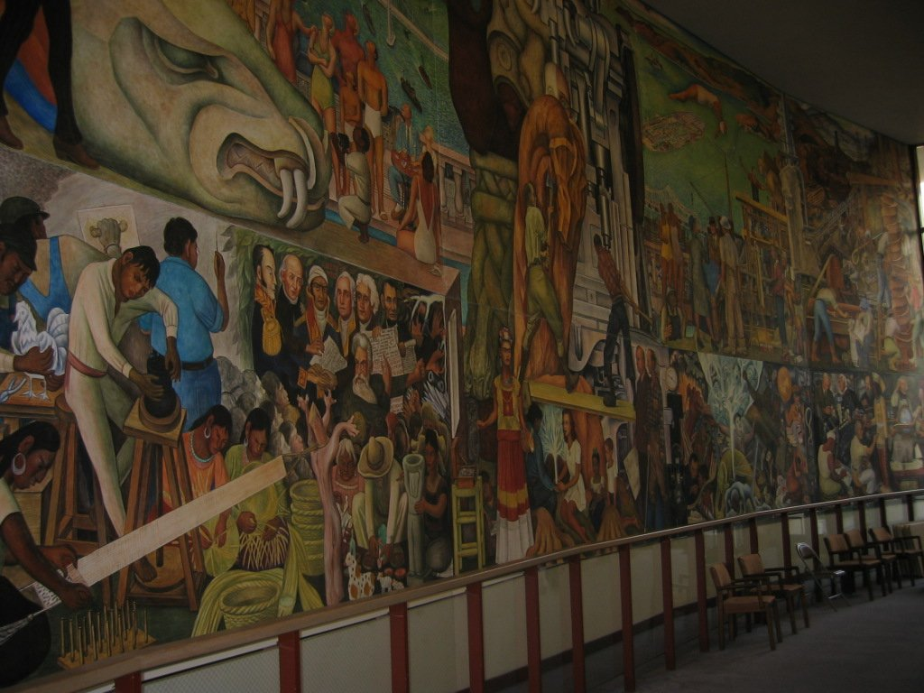 Art of colonial and modern mexico for Diego rivera mural san francisco art institute