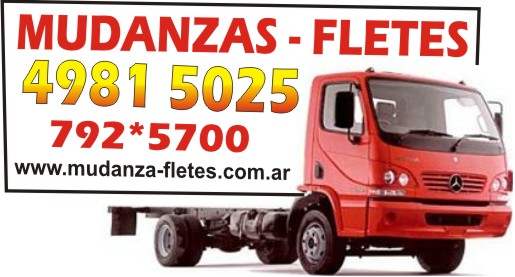 MUDANZAS - FLETES Telf. 4981-5025