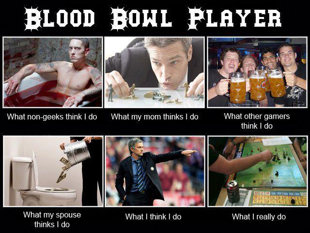 Le joueur de BLoodBowl vu par... Blood+Bowl+Player