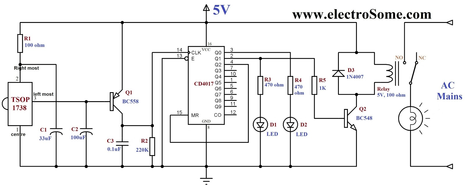 project theory wireless switch based on ir one click to switch on rh circuit project theory blogspot com