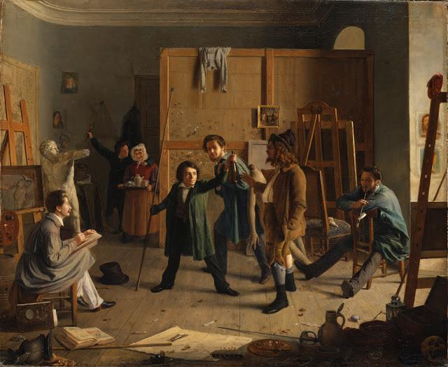 atelierszene,Hasenclever, art history