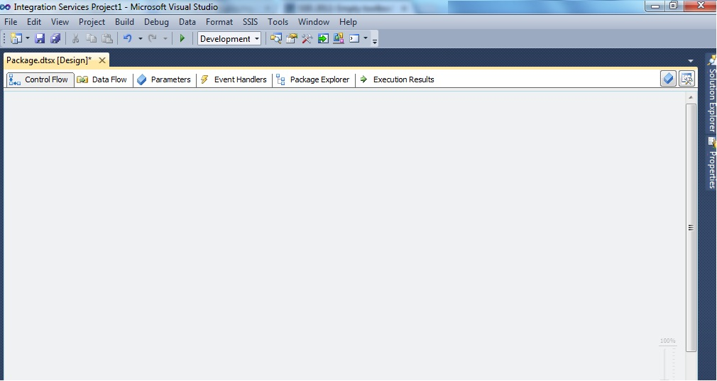 how to open ssis package in visual studio 2013