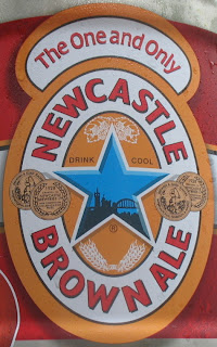 The mini keg of Newcastle is tasty!
