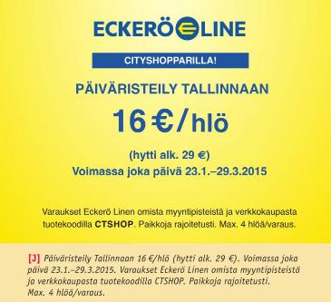 Cityshoppari, Tallinna, Tallinna tutuksi, Eckerö Line