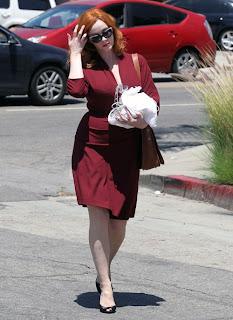 Christina Hendricks, American actress, Melrose Ave, Los Angeles, Los Angeles travel, Los Angeles shopping, Christina Hendricks bikini