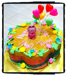Caramel Rainbow Cake 8""