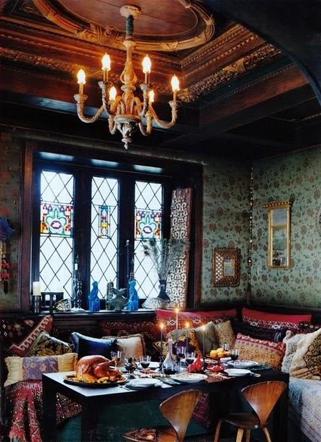 تصميمات رائعه لغرف المعيشه المغربيه  Exquisite-moroccan-dining-room-designs-27