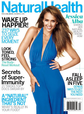 Jessica Alba stunning beauty in Natural Health Magazine photoshoot