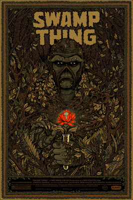 Mondo - Swamp Thing Glow in the Dark Metallic Ink Variant Screen Print by Florian Bertmer