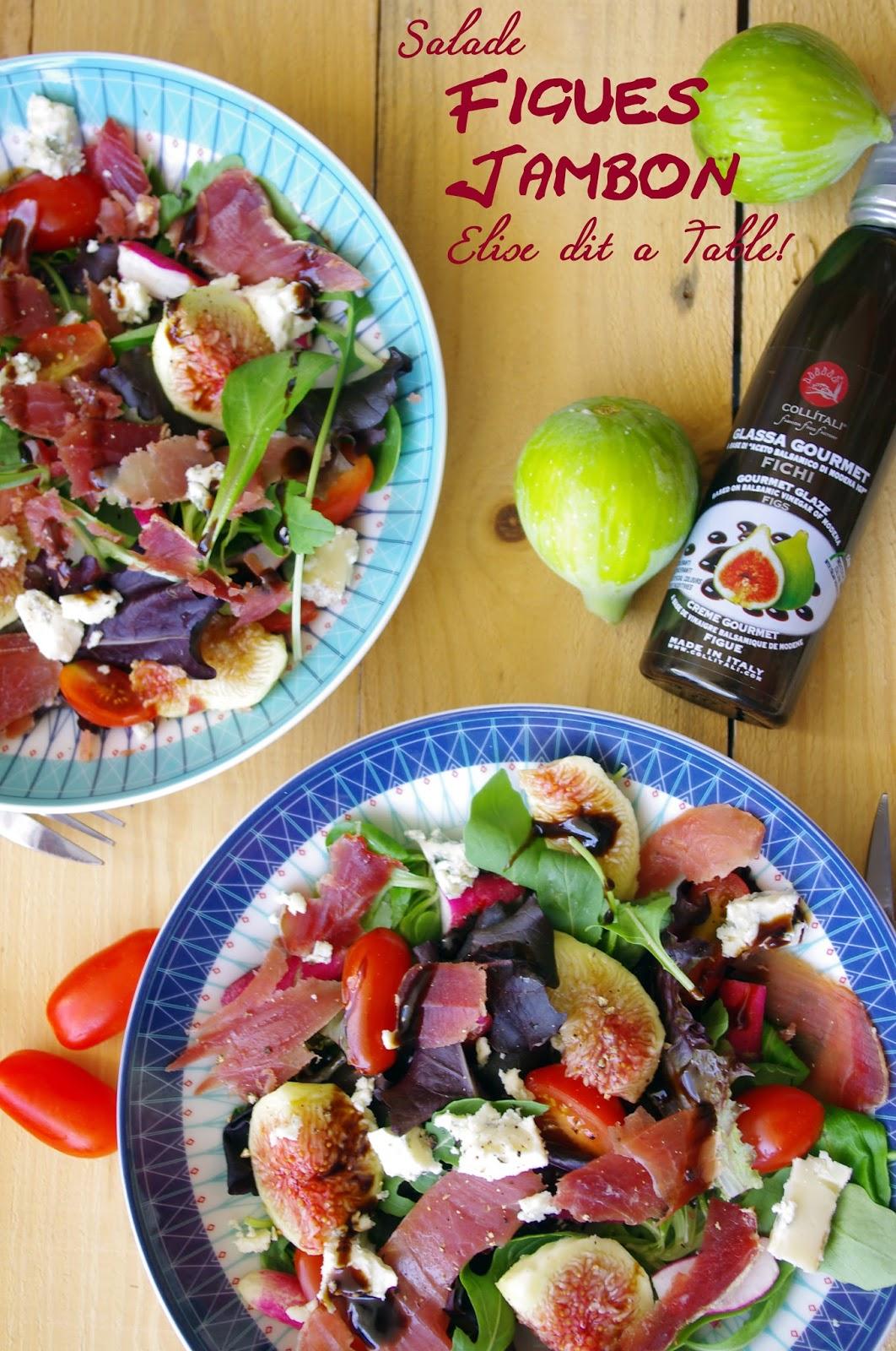 recette Salade de jambon et figues