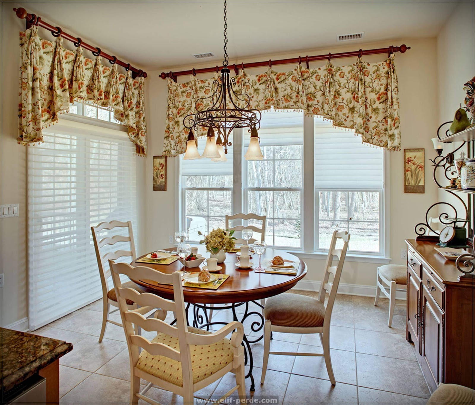 Elegant dining room curtains