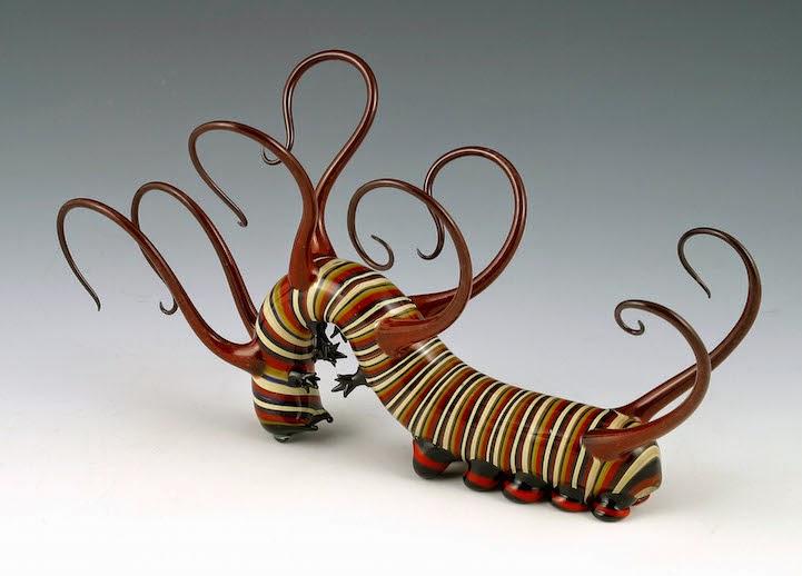 hand blown glass creatures sculptures scott bisson-6